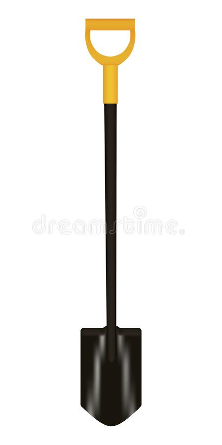 Shovel with yellow Handle Vector illustration royalty free stock images