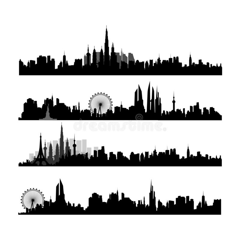 Vector illustration - the silhouette royalty free illustration