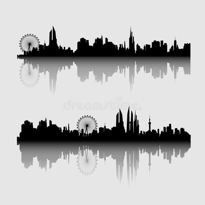Vector illustration - The silhouette stock illustration