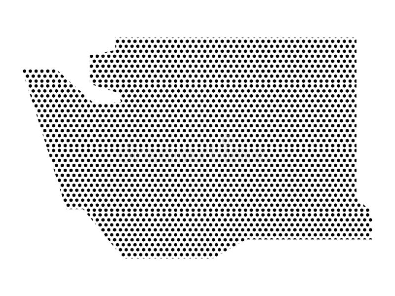 Simplified Dotted Pattern Map of US State of Washington. Vector illustration of the Simplified Dotted Pattern Map of US State of Washington royalty free illustration