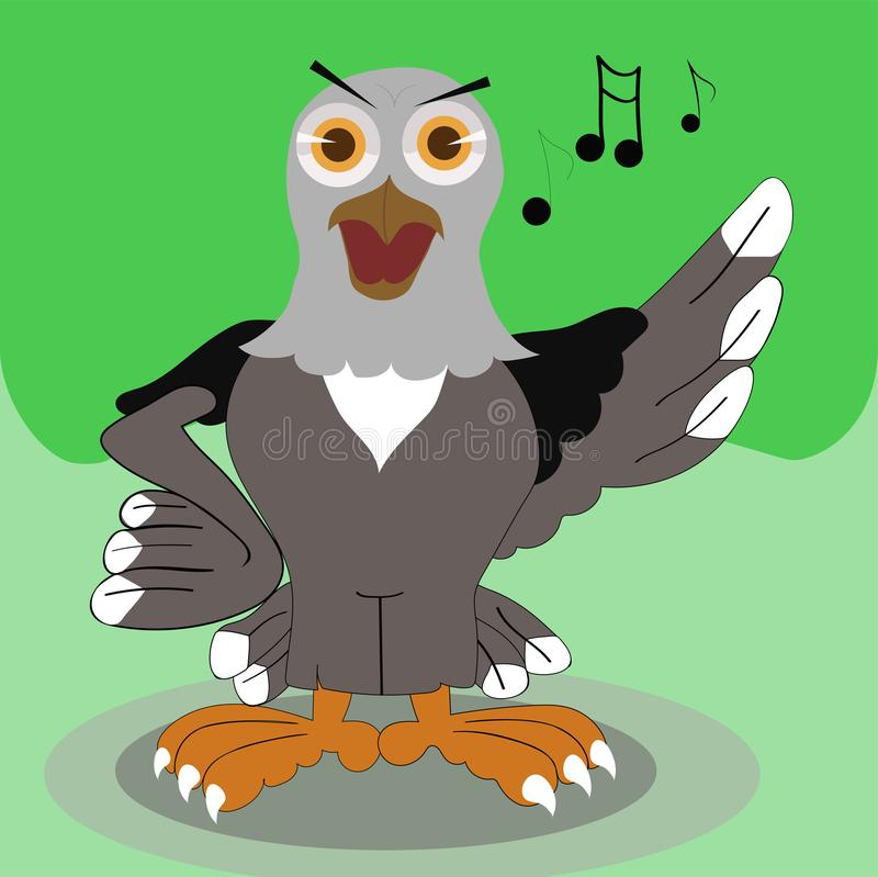 illustration singing eagle stock photography
