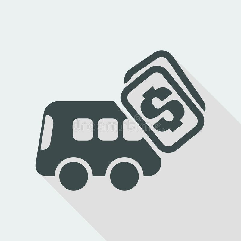 Vector illustration of single isolated bus pay icon royalty free illustration