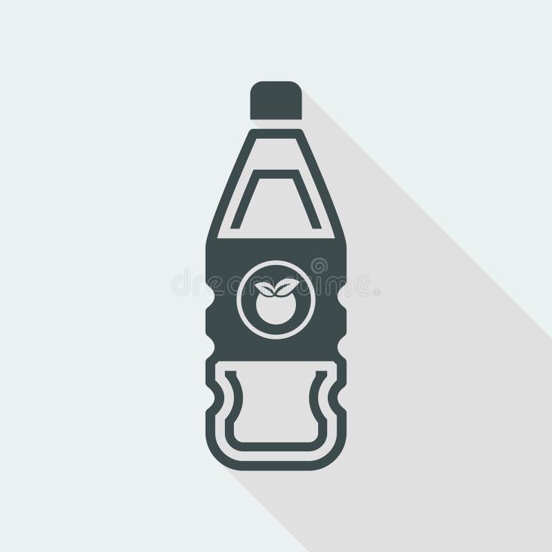 Vector illustration of single isolated fruit juice bottle icon stock illustration