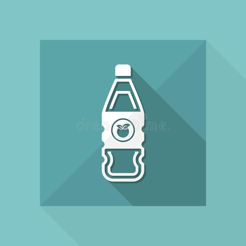 Vector illustration of single isolated fruit juice bottle icon royalty free illustration