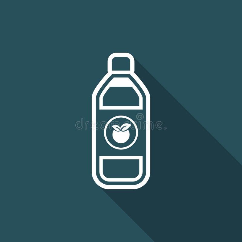 Vector illustration of single isolated fruit juice icon vector illustration