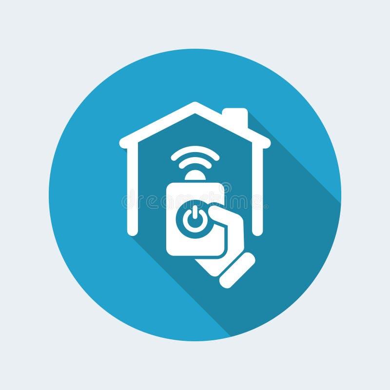 Home remote icon stock illustration