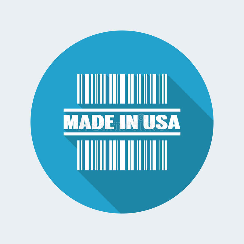 Made in USA icon. Vector illustration of single isolated made in USA icon stock illustration