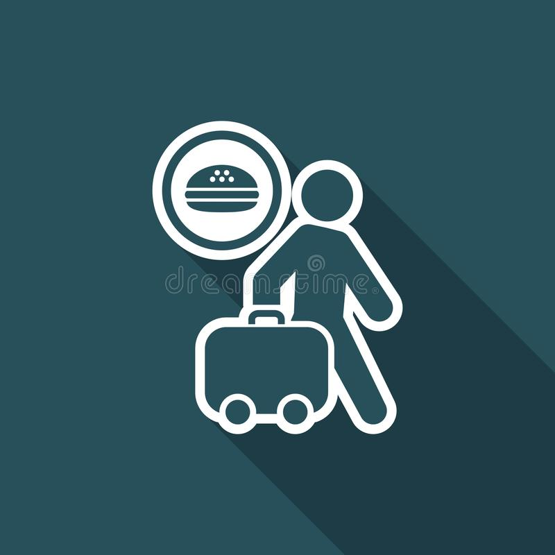 Vector illustration of single isolated travel food icon stock illustration