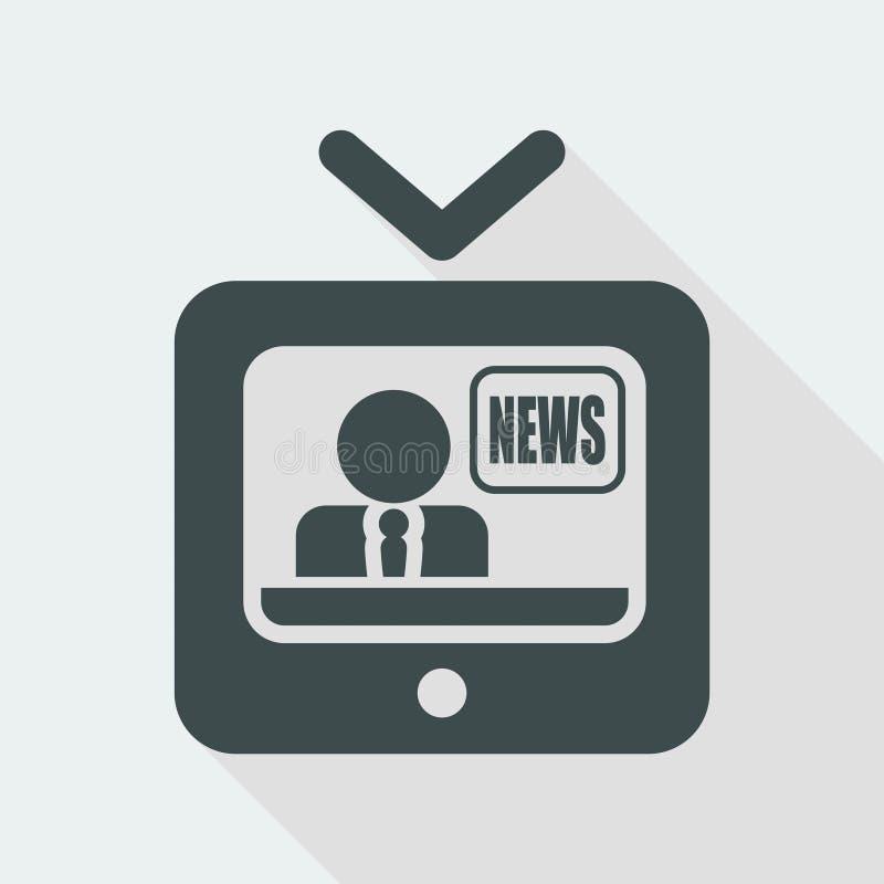 Vector illustration of single isolated tv news icon vector illustration