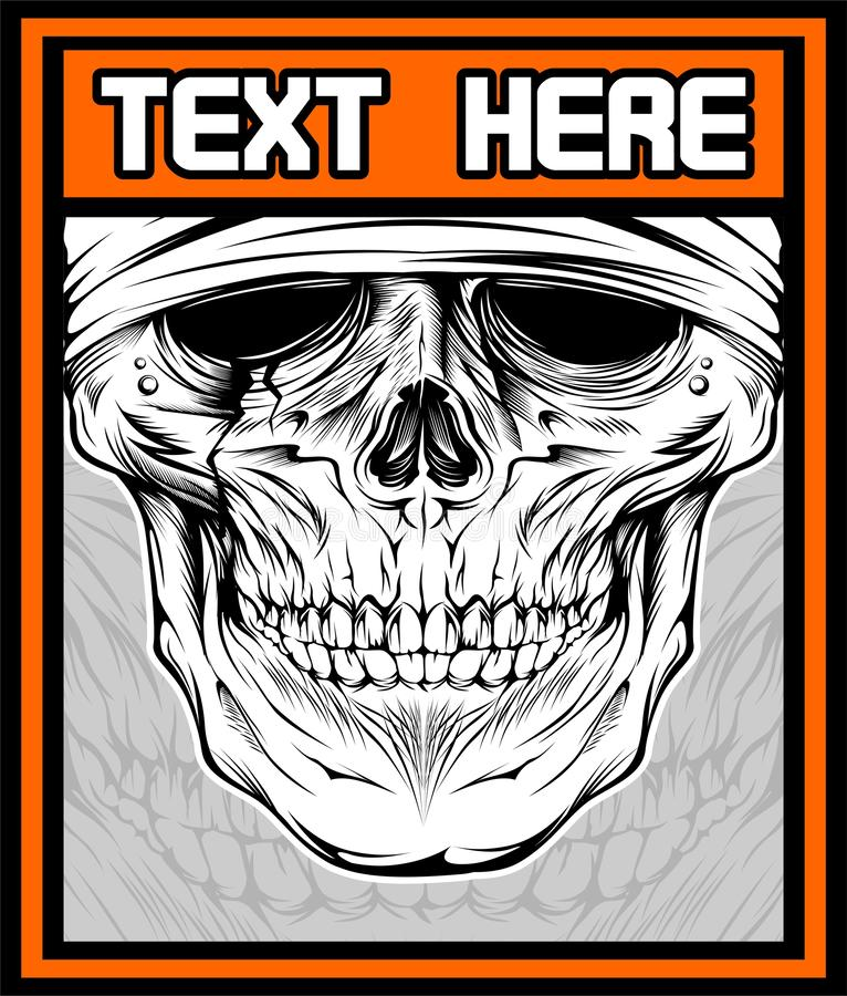 Vector illustration of skull Vector stock illustration