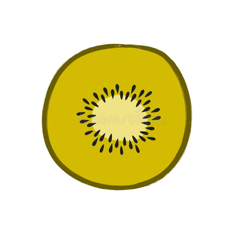 Vector illustration of sliced kiwi isolated on white background. Vector colorful illustration of sliced kiwi isolated on white background royalty free illustration