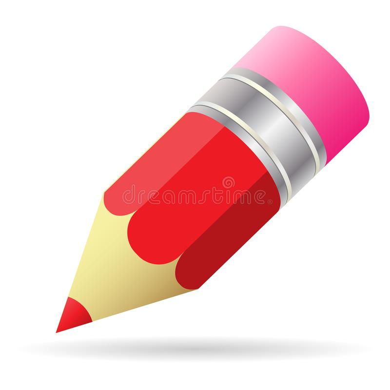 Vector Illustration Small Pencil with eraser stock illustration