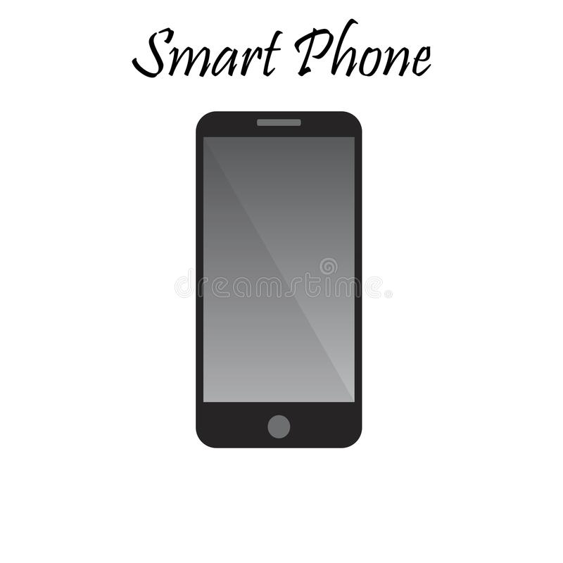 Vector illustration of Smart Phone. With Blank Screen. High quality mobile phone illustration. Cellphone or communicator. Gadget collection vector illustration