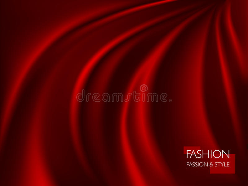 Vector illustration of smooth elegant luxury red silk or satin texture. Can be used as background royalty free illustration