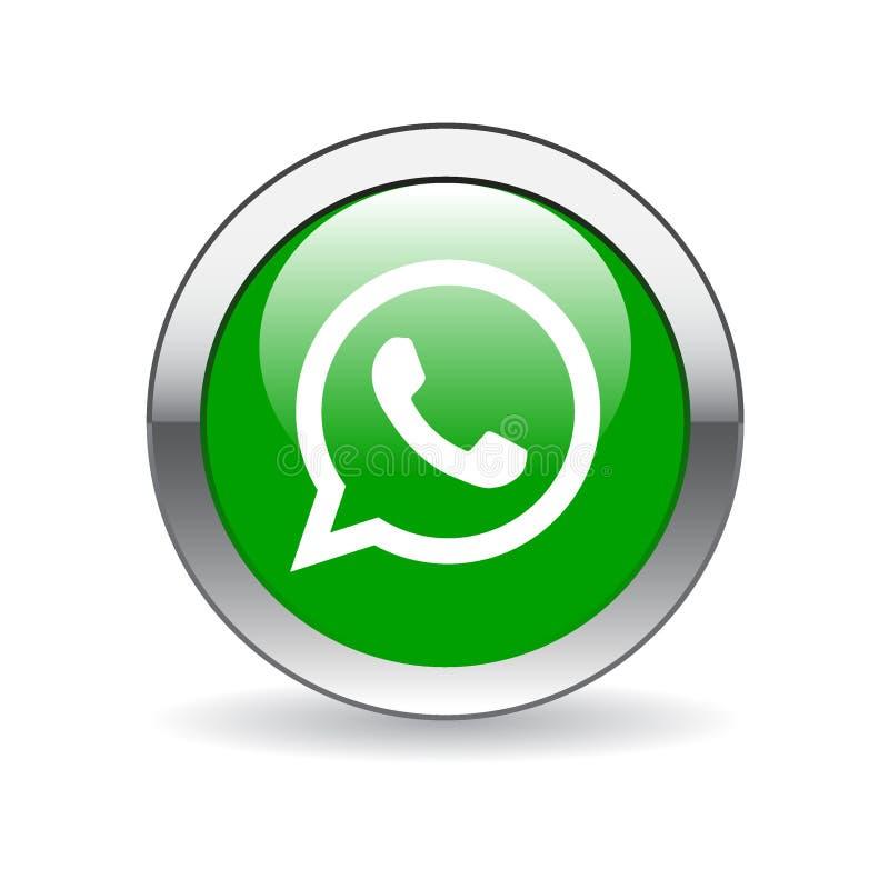 Whatsapp icon button royalty free illustration