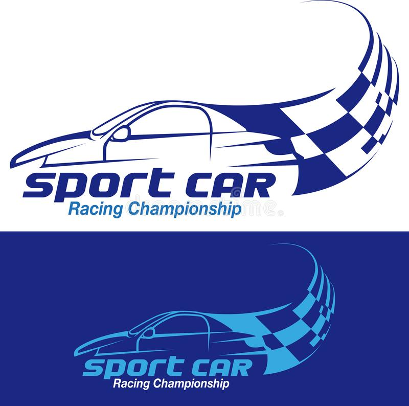 Sport car racing symbol. Vector illustration, sport car racing championship logo or symbol vector illustration