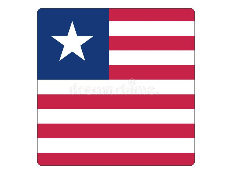 Square Flag of Liberia royalty free illustration