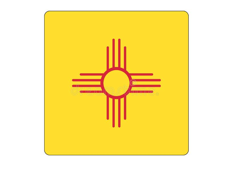 Square Flag of USA State of New Mexico vector illustration