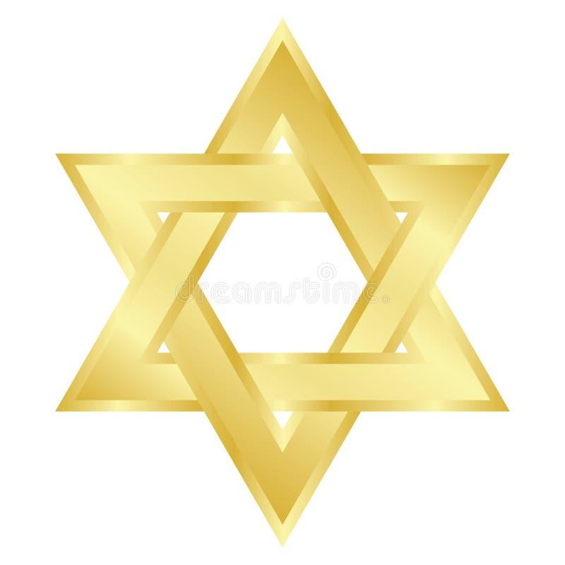 Star of David (Magen David). Vector illustration of star of David (Magen David vector illustration