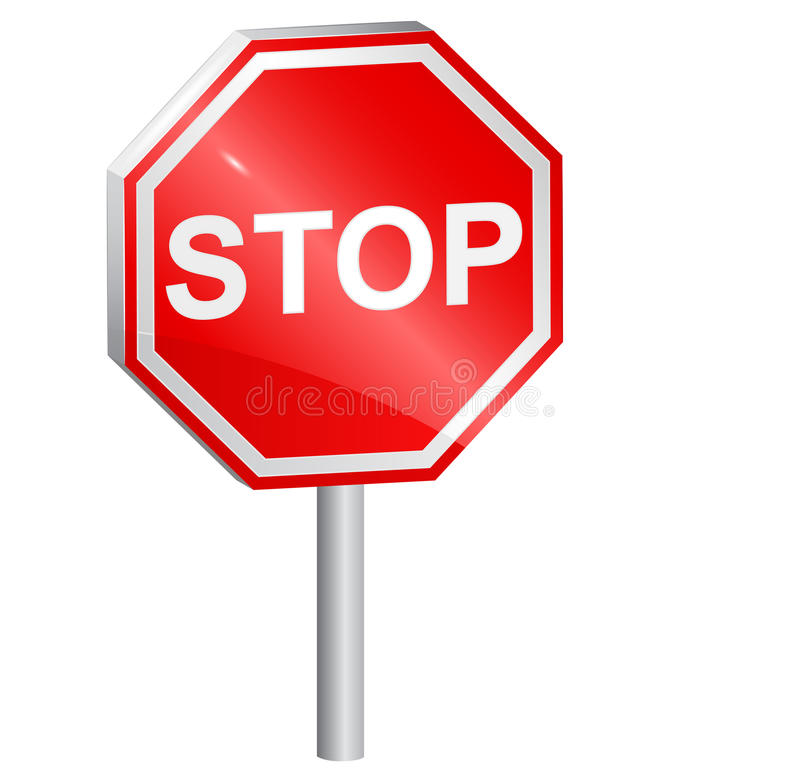 Download Vector Illustration Of Stop Sign Stock Vector - Illustration of octagon, glossy: 27674348