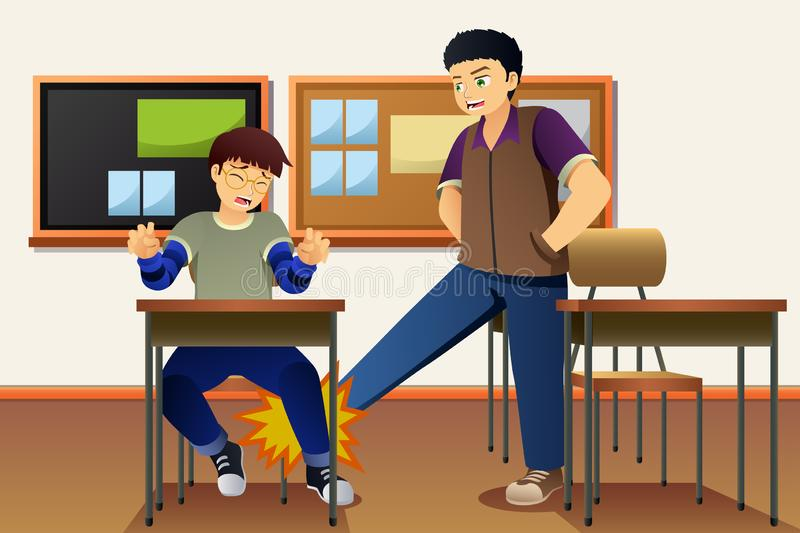 Student Bullying His Friend Illustration royalty free illustration