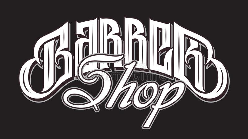 Vector illustration with stylish inscription for barbershop. Calligraphy. Lettering.  vector illustration
