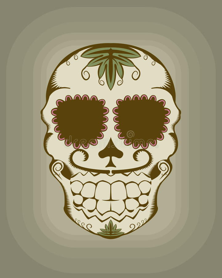 Vector illustration of sugar skull vector illustration