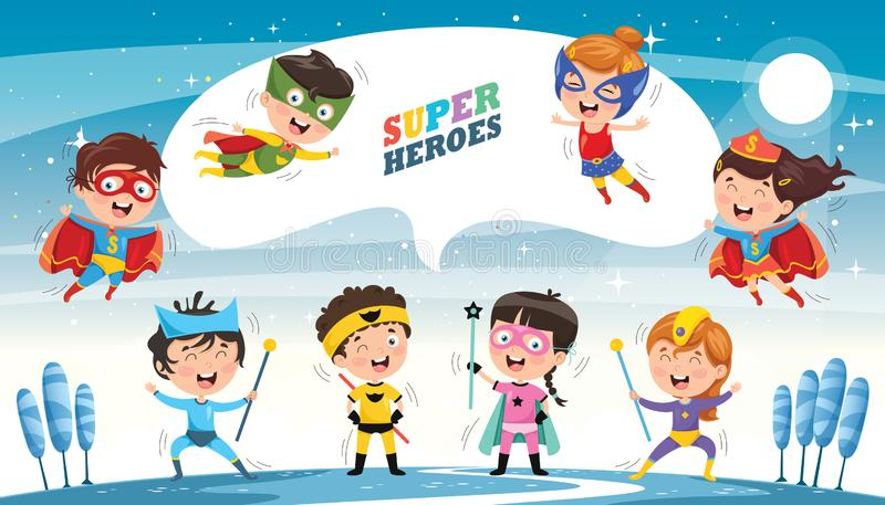 Vector Illustration Of Superheroes. Eps 10 vector illustration