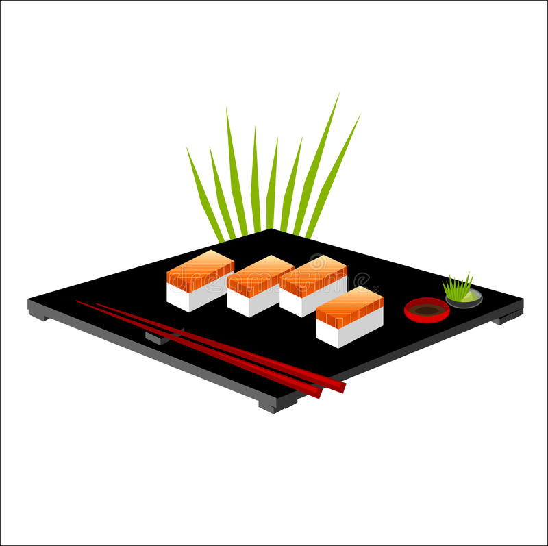 Download Vector Illustration Of Sushi Stock Illustration - Illustration of eating, protein: 20393384