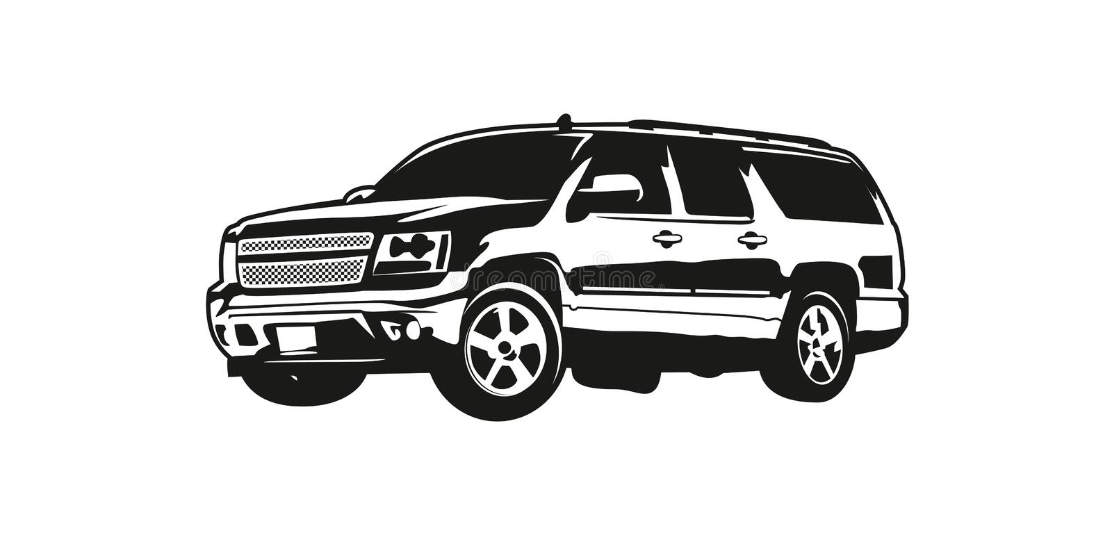 Vector illustration SUV or Sport Utility Vehicle stock illustration