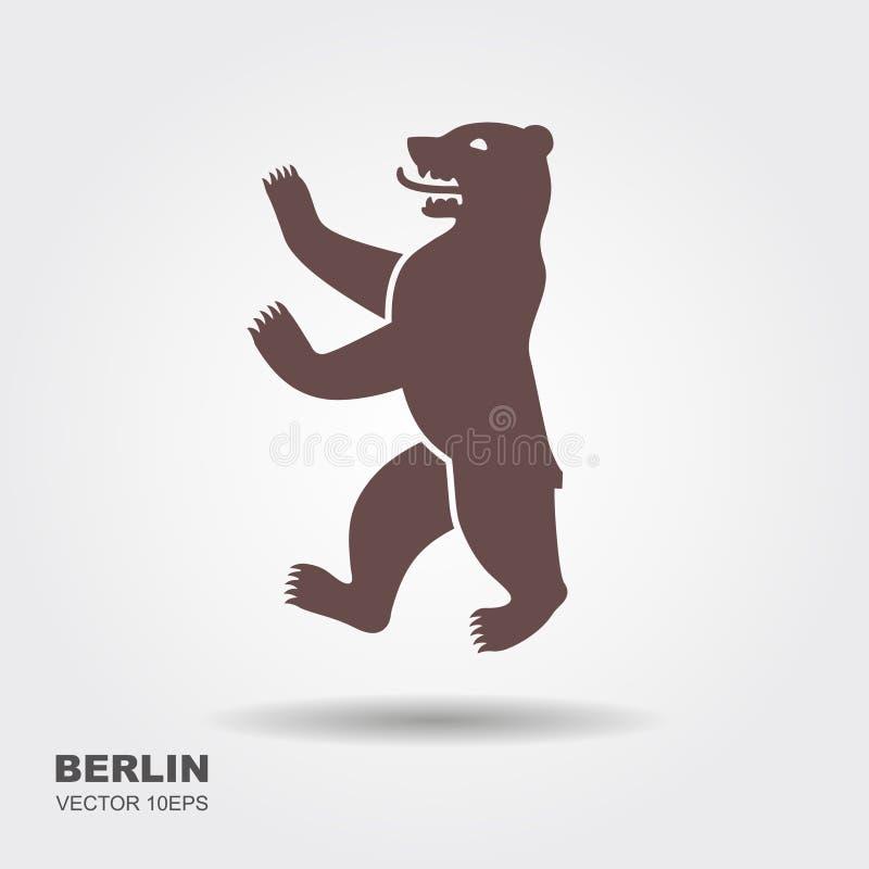 Vector illustration symbol of Berlin, Germany Bear icon stock illustration