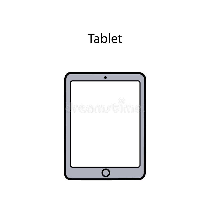 Vector illustration of tablet royalty free illustration
