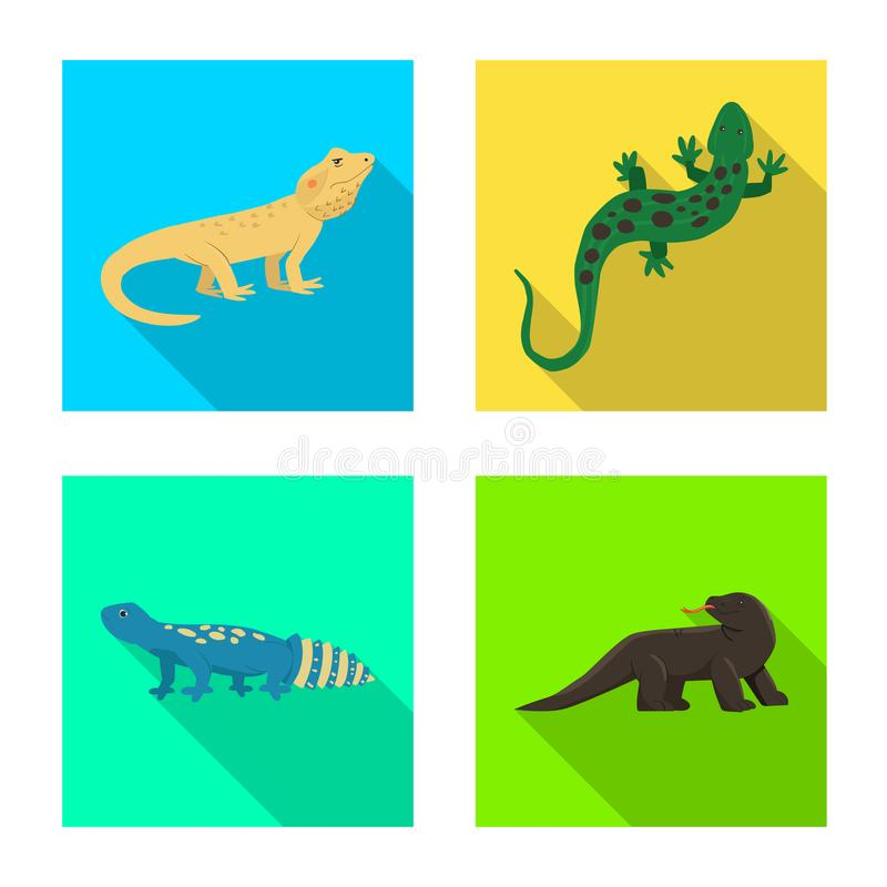 Vector illustration of tail and fauna sign. Set of tail and environment vector icon for stock. Isolated object of tail and fauna logo. Collection of tail and vector illustration