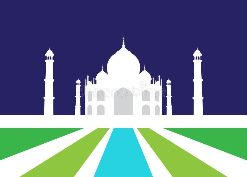Vector Illustration of Taj Mahal. vector illustration