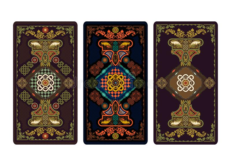 Vector Illustration For Tarot And Playing Cards Template For - Tarot card template