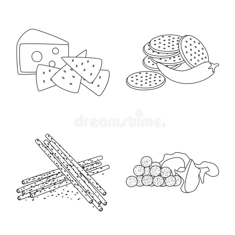 Vector illustration of taste and crunchy logo. Set of taste and cooking vector icon for stock. Isolated object of taste and crunchy icon. Collection of taste stock illustration