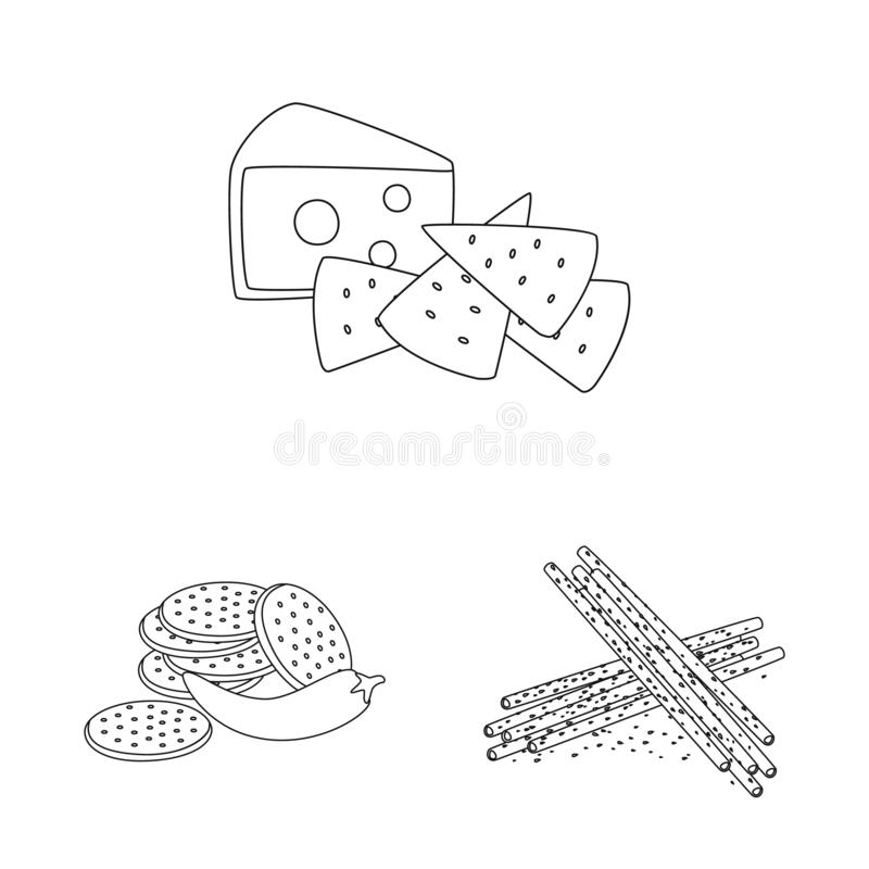 Vector design of taste and crunchy icon. Collection of taste and cooking stock vector illustration. Vector illustration of taste and crunchy symbol. Set of royalty free illustration