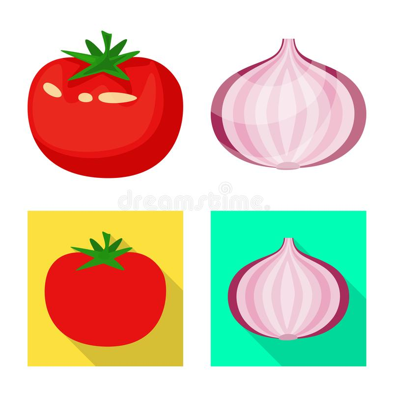 Vector illustration of taste and product icon. Collection of taste and cooking stock vector illustration. Isolated object of taste and product symbol. Set of vector illustration