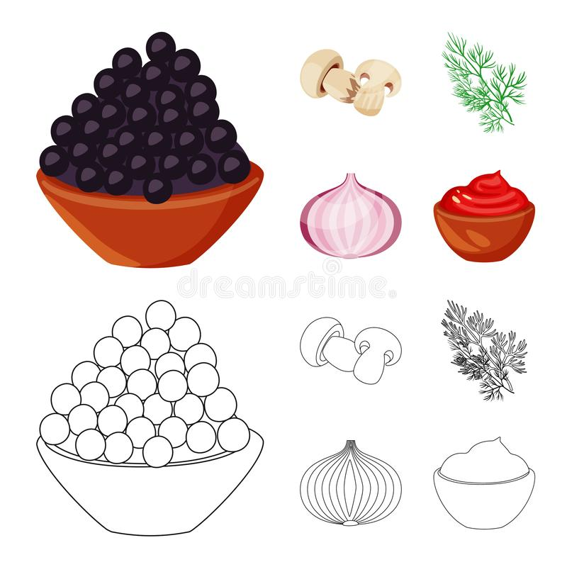 Vector design of taste and product sign. Set of taste and cooking stock vector illustration. Vector illustration of taste and product logo. Collection of taste stock illustration