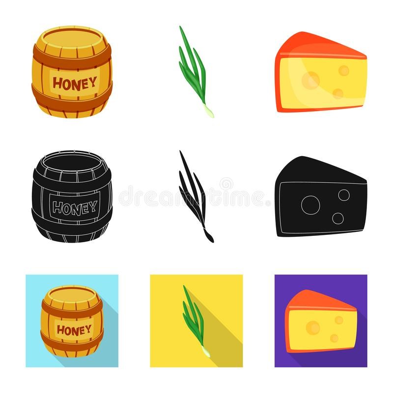Vector illustration of taste and product logo. Set of taste and cooking stock symbol for web. Isolated object of taste and product icon. Collection of taste and stock illustration