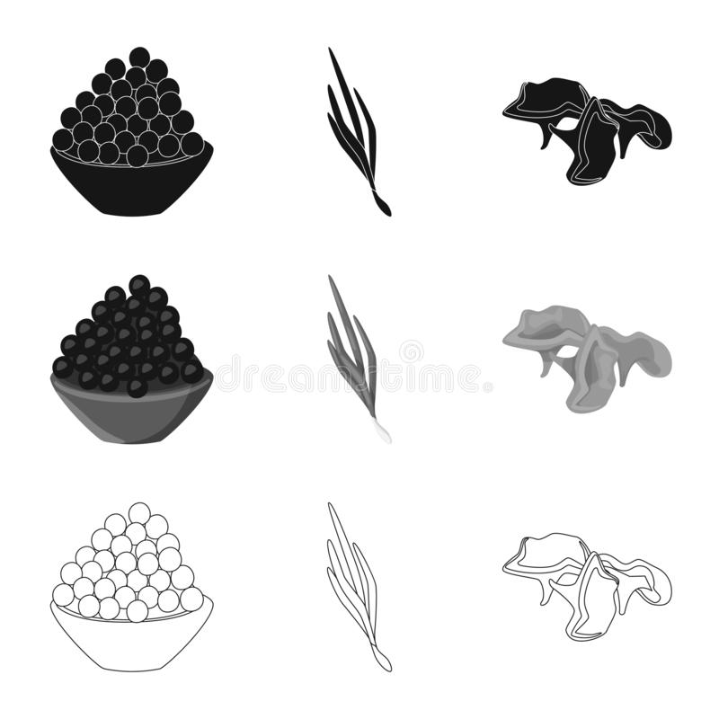 Vector illustration of taste and product sign. Collection of taste and cooking vector icon for stock. Isolated object of taste and product logo. Set of taste stock illustration