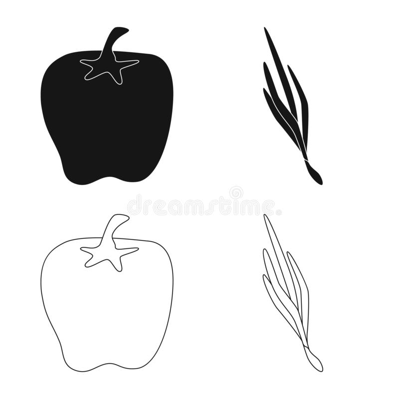 Vector design of taste and product symbol. Collection of taste and cooking stock symbol for web. Vector illustration of taste and product sign. Set of taste and royalty free illustration