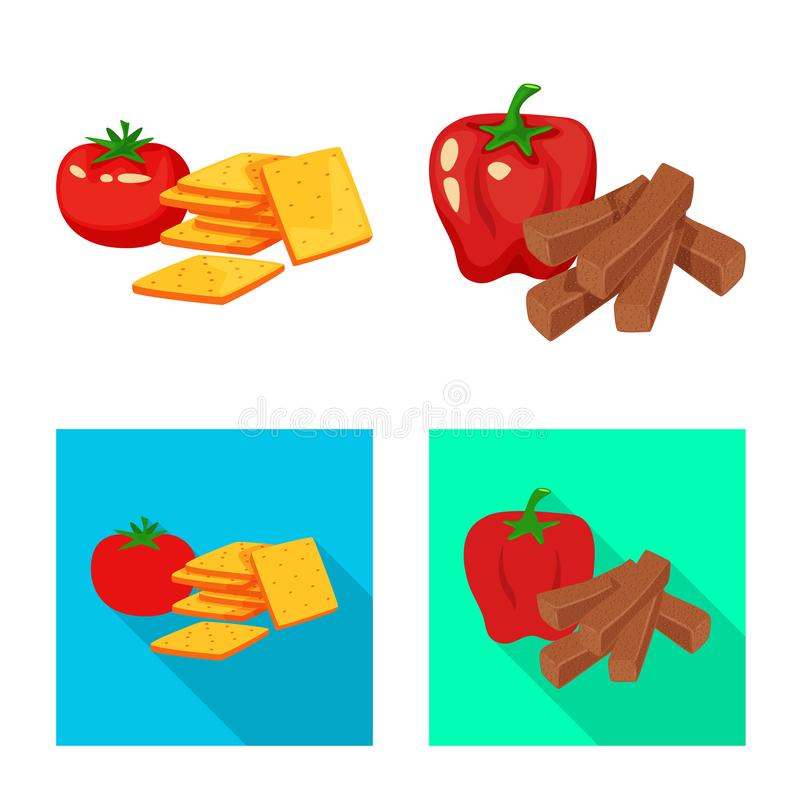 Vector illustration of taste and seasonin icon. Collection of taste and organic stock vector illustration. Isolated object of taste and seasonin symbol. Set of vector illustration