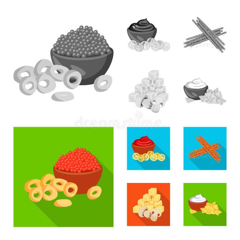 Vector illustration of taste and seasonin icon. Set of taste and organic vector icon for stock. Isolated object of taste and seasonin symbol. Collection of stock illustration