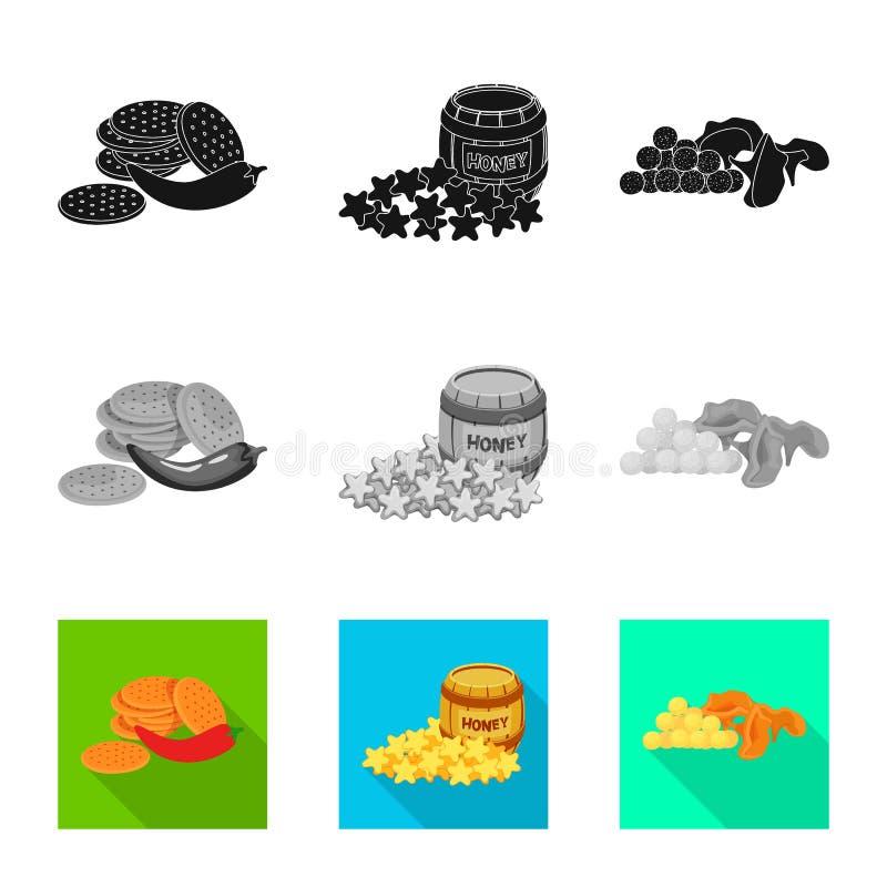 Vector illustration of taste and seasonin icon. Set of taste and organic stock symbol for web. Isolated object of taste and seasonin symbol. Collection of taste stock illustration