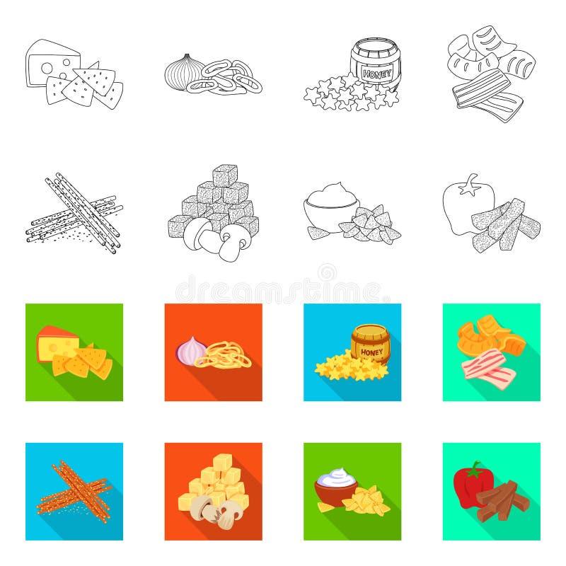Vector design of taste and seasonin sign. Set of taste and organic stock symbol for web. Vector illustration of taste and seasonin logo. Collection of taste and stock illustration