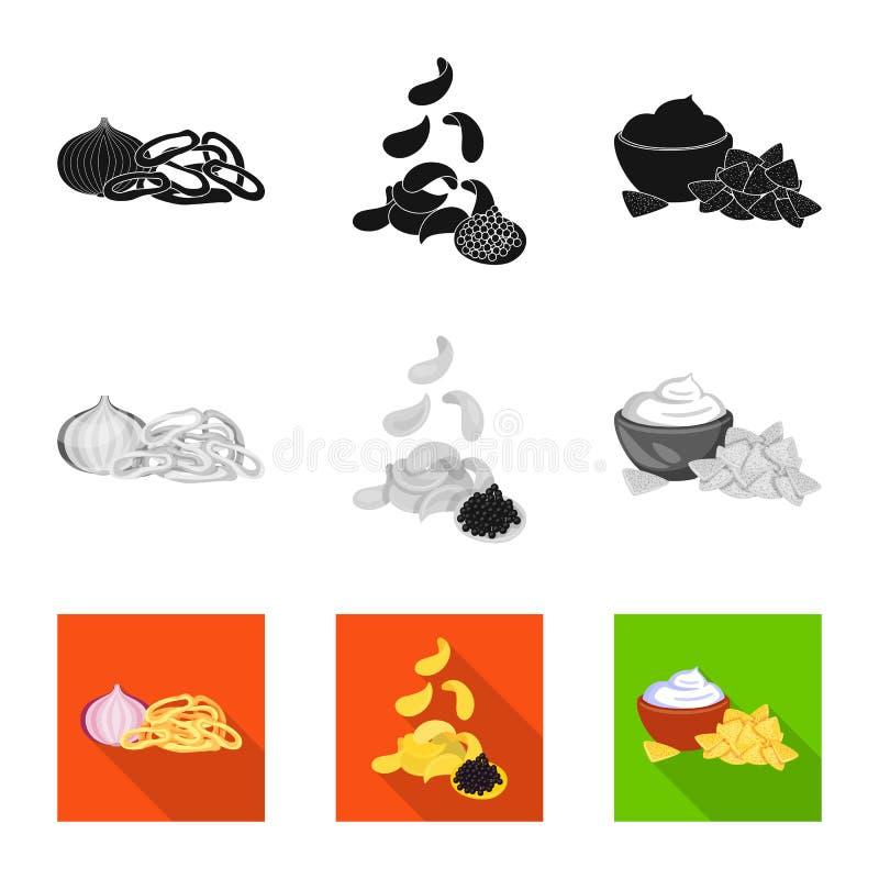 Vector design of taste and seasonin sign. Set of taste and organic vector icon for stock. Vector illustration of taste and seasonin logo. Collection of taste stock illustration