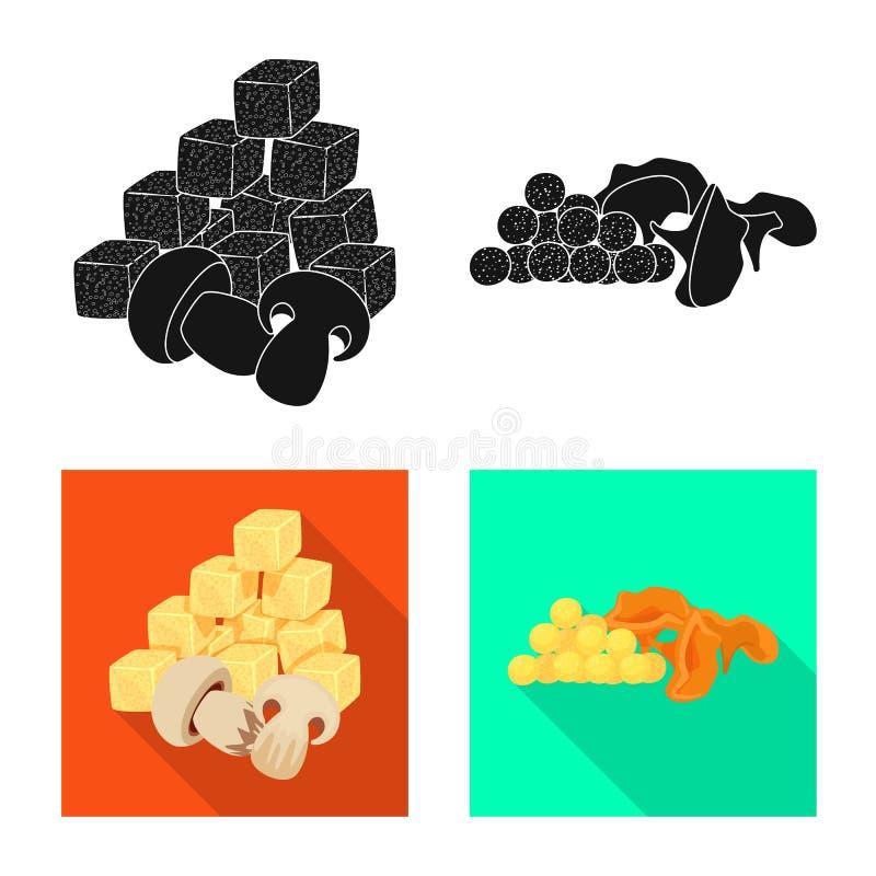 Vector illustration of taste and seasonin logo. Set of taste and organic stock vector illustration. Isolated object of taste and seasonin icon. Collection of stock illustration