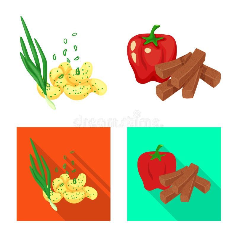 Vector illustration of taste and seasonin logo. Set of taste and organic   vector icon for stock. Isolated object of taste and seasonin icon. Collection of stock illustration