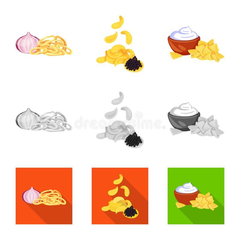 Vector illustration of taste and seasonin logo. Set of taste and organic vector icon for stock. Isolated object of taste and seasonin icon. Collection of taste vector illustration